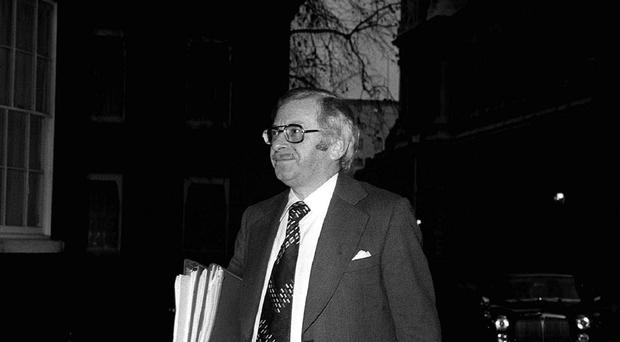 Joel Barnett, who inspired the formula that bears his name, arriving for a cabinet meeting