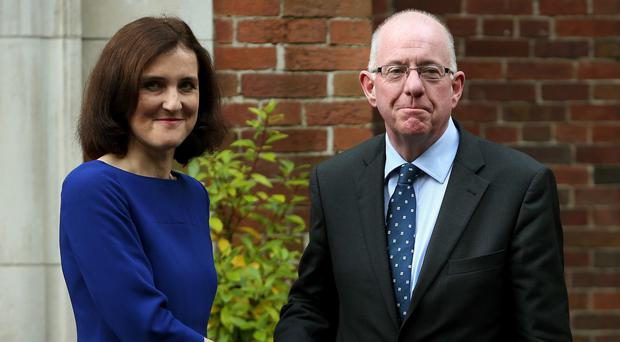 Northern Ireland Secretary Theresa Villiers and Irish Foreign Affairs Minister Charlie Flanagan were also in attendence at the session