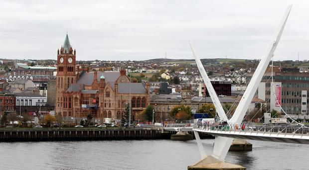 A Londonderry man has been arrested over alleged links to Syria