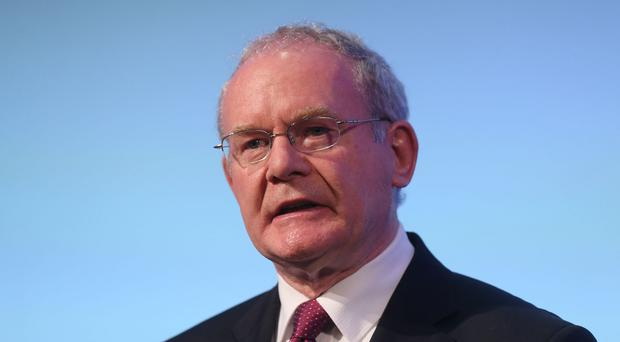 Martin McGuinness said the planned new emergency services training facility will probably be smaller than originally envisaged