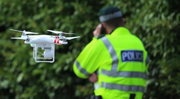 The use of drones is said to reduce the risk to the police search teams and dogs