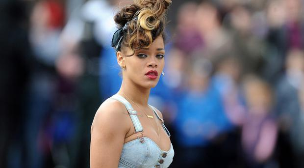 The photograph of Rihanna in Belfast