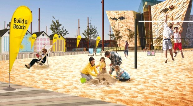 An artist's impression of what the urban beach could look like