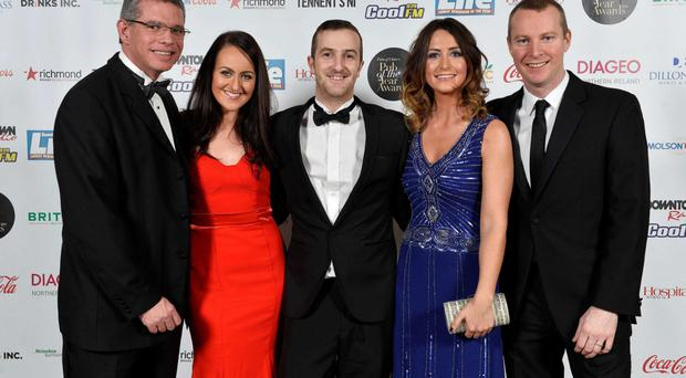 Pub of the year Awards: Conor McCreedy, Danielle Baker, Peter Hughes,Tanya OHare and Dermott ODonnell