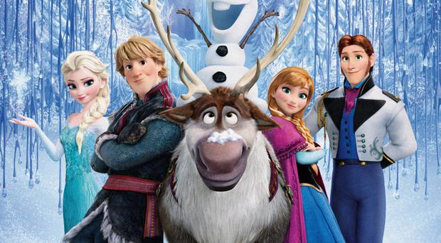 A scene from the hit film Frozen