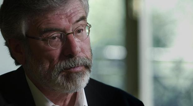 Gerry Adams has apologised for his language but insists he was using it to describe bigots (BBC/PA)