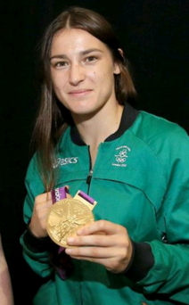 Katie Taylor with her Olympic gold in 2012