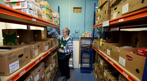 The number of people requiring help from food banks has grown rapidly