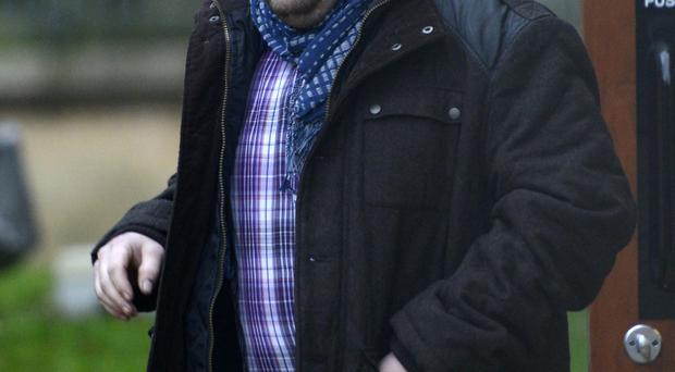 Conor McAleenan leaves Antrim Magistrates Court yesterday