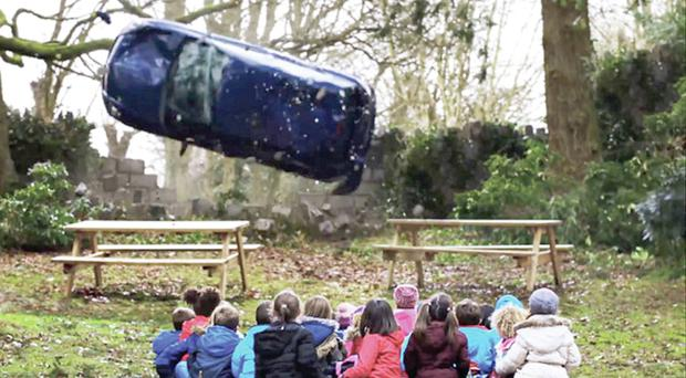 One of the DoE's hard-hitting road safety TV adverts