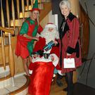 Alex Best with Pamela Ballantine and Santa at Aura day spa