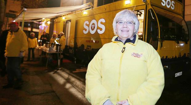 Help at hand: SOS Bus volunteer Grace Koch is a good listener