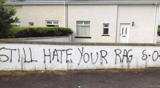 Graffiti sprayed on Coleraine mayor George Duddy's home