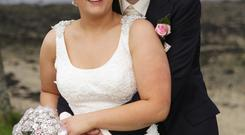 Margaret and Ryan Crozier were married in Moneyneany, Ryan proposed in Times Square, New York