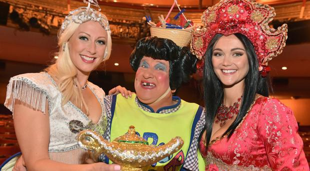 Faye Tozer, May McFettridge and Jayne Wisener are the stars of classic pantomine Aladdin