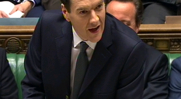 Chancellor George Osborne delivering his Autumn Statement in the Commons yesterday