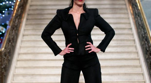 Models showcase designs by Geraldine Connon in the Great Hall, Stormont, last night organised by UUP MLA Jo-Anne Dobson