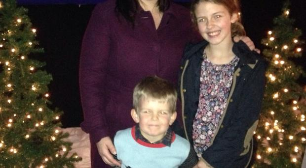 Rebecca McConkey and children Ruby and Oliver