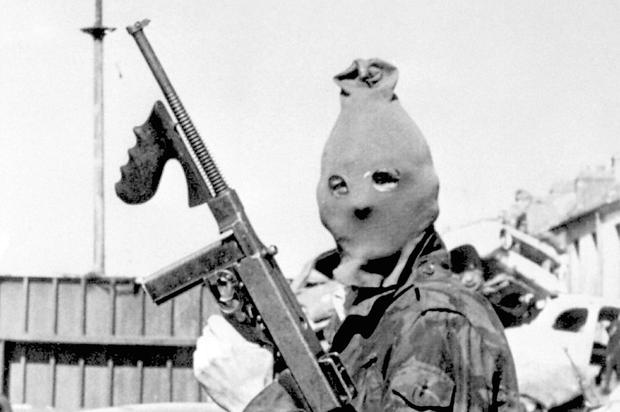 A masked IRA man in the 1970s