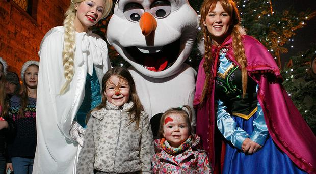 A Christmas party and family fun day was held in Ballyhackamore at the weekend. The tree was lit by Frozen characters Anna, Elsa and Olaf