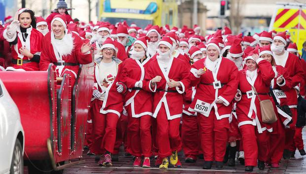 Cool FM Santa dash in aid of Cash For Kids in Belfast city centre
