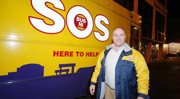 SOS chief executive Joe Hyland with the bus