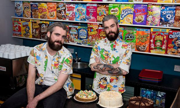 The Cereal Killer cafe owners Alan Keery and Gary Keery