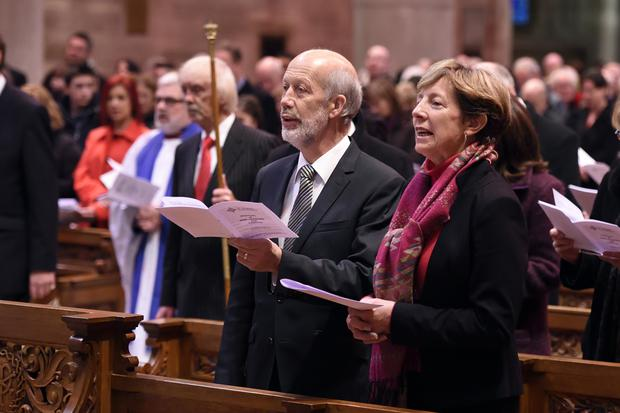 Justice Minister David Ford joined hundreds of staff and their guests at the Prison Service carol service at St Anne's Cathedral, Belfast yesterday