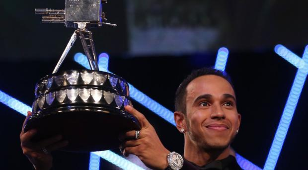 Winner of Sports Personality of the Year 2014, Lewis Hamilton.
