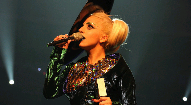 Lady Gaga during the MTV Music Awards in Belfast in 2011