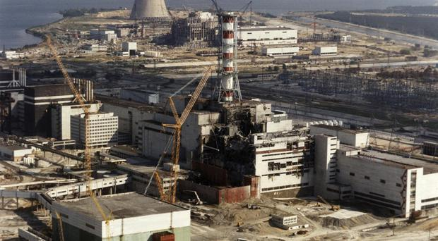 Chernobyl nuclear plant in Ukraine after the disaster in 1986