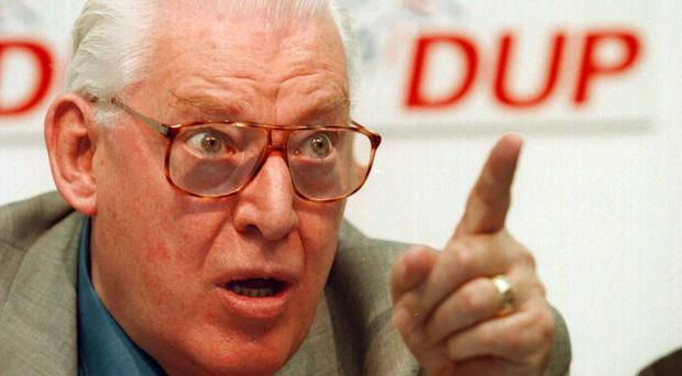 Ian Paisley was vehemently opposed to the Anglo Irish Agreement