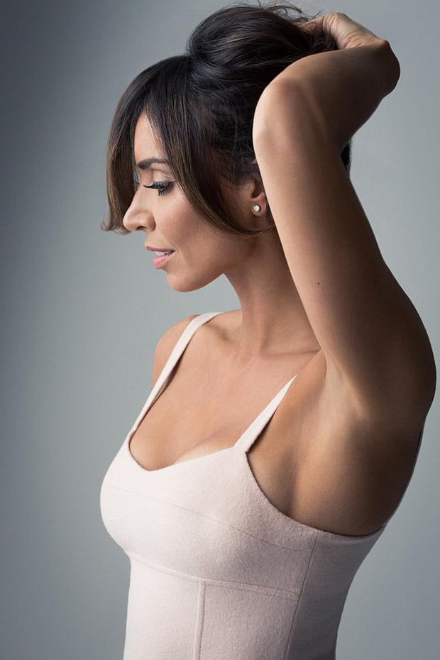 Christine Bleakley poses for a Soft and Gentle promotional shoot
