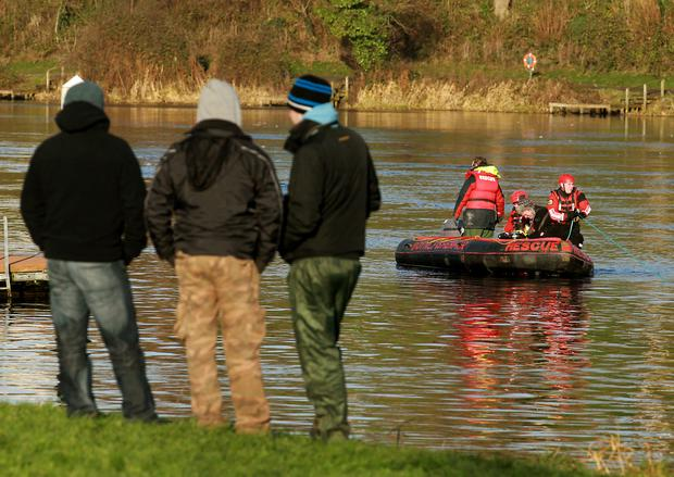Rescue teams continue to search for Kieran McAree at the Round 'O' in Enniskillen
