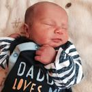 Loved: Cillian Sean O'Neill was born at Lagan Valley Hospital