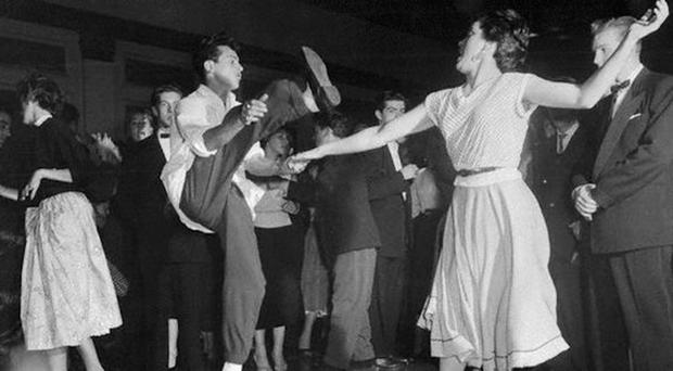 Couples on the dancefloor during the hall's heyday