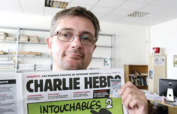 Charlie Hebdo publishing director and satirical cartoonist Stephane Charbonnier, popularly known as Charb, who was killed in the attack