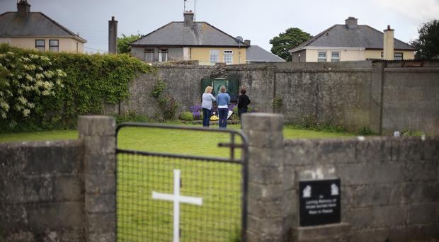 A mass burial site for children who died in the Tuam mother and baby home, Galway