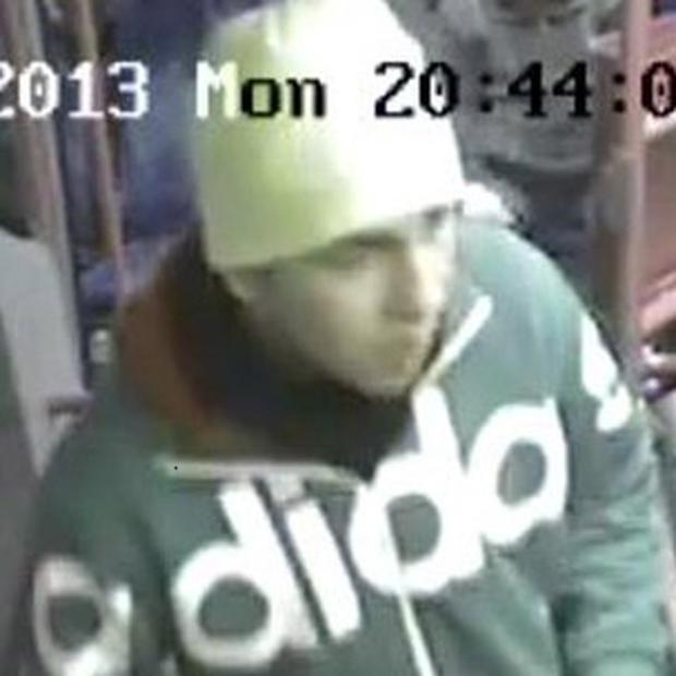 The CCTV image of a man police want to speak to about a hoax bomb alert in Belfast city centre