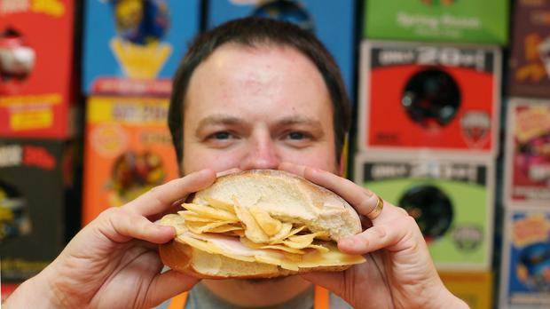 A crisp sandwich to be sold at the pop-up That Wee Cafe in Belfast (That Wee Cafe/PA)