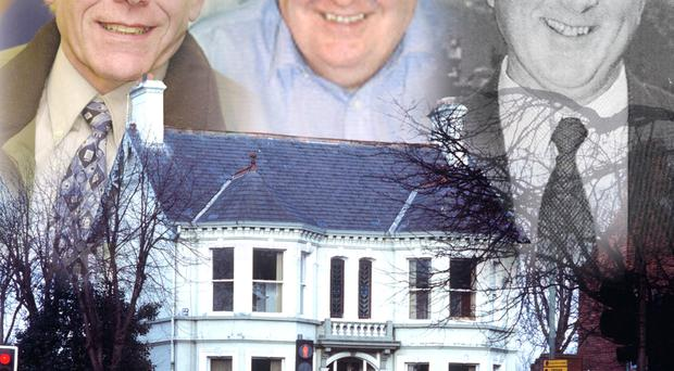 Kincora and (top from left) Roy Garland, Brian Gemmell and Colin Wallace