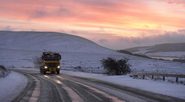 Gritters have been working on roads in Northern Ireland
