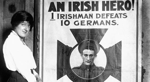 A poster produced with the aim of boosting enlistment in Ireland during the First World War