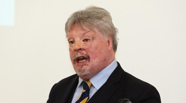 Falklands War veteran Simon Weston speaking at the Northern Ireland Association for the Care and Resettlement of Offenders conference