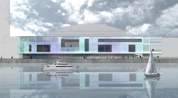 The 29.5 million pounds extension of Belfast's Waterfront Hall (handout/PA Wire)