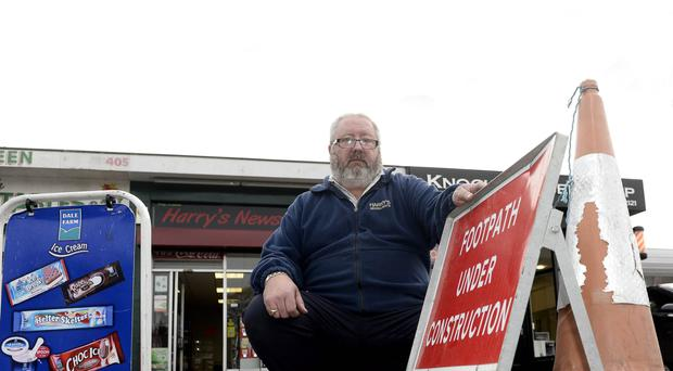 John Lemon from Harry's Newsagents on the Upper Newtownards Road in Belfast yesterday
