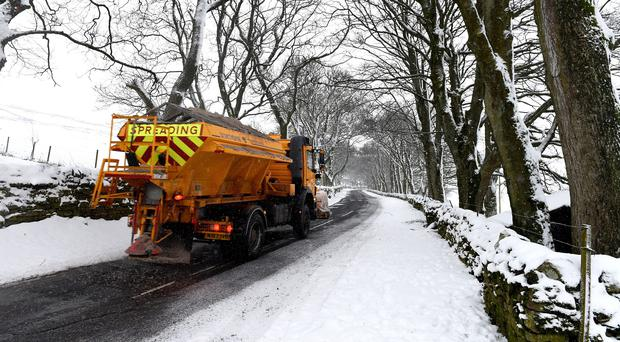 Yorkshire was hardest hit by overnight snow, with morning commuters facing difficult driving conditions