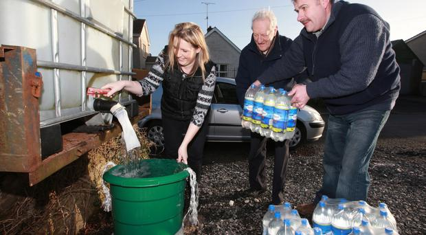 Locals in Lisbellaw, Co Fermanagh, struggle to cope with no water