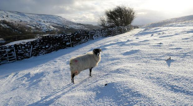 Snow is set to sweep into parts of northern England