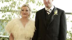 Hazel and Darren Baxter from Maghaberry were married in Lisburn's civic centre